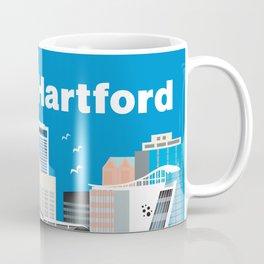 Hartford, Connecticut - Skyline Illustration by Loose Petals Coffee Mug