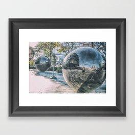 Sphere Reflections Framed Art Print