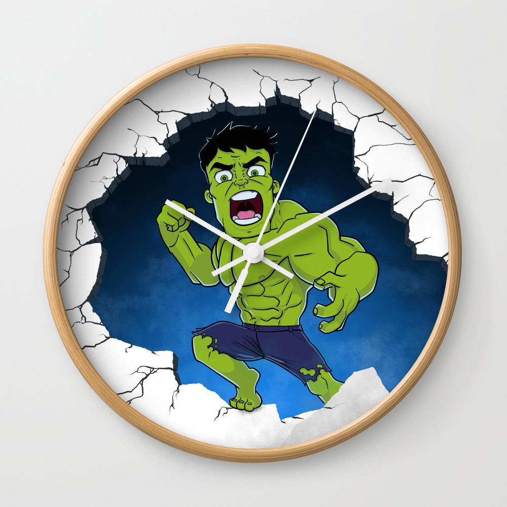 Chibi Hulk Smash! Wall Clock by Allbroke CLK8506532