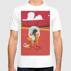 Visit Mars vintage cartoon poster MEDIUM White Mens Fitted Tee