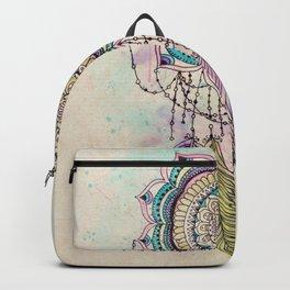 Modern tribal hand paint dreamcatcher mandala design Backpack