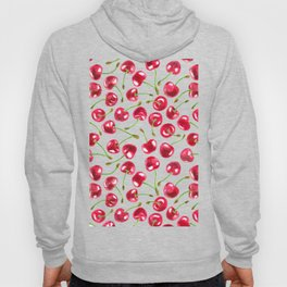 Watercolor cherries pattern Hoody