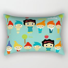 Snow White and the 7 dwarfs Rectangular Pillow