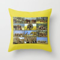 wildlife Throw Pillows featuring Wildlife by Karl-Heinz Lüpke
