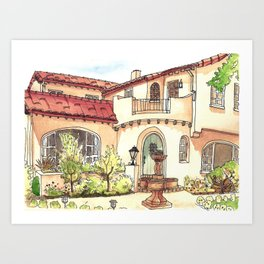 California Residence Art Print