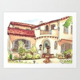 California Residence Art Print