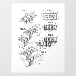 Toy Bricks Art Print