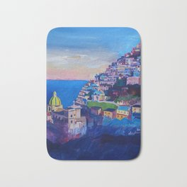 Amazing Amalfi Coast at Sunset in Italy Bath Mat