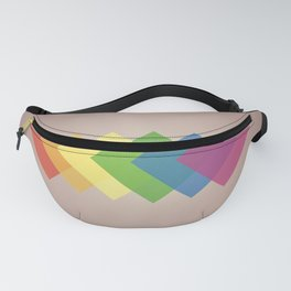Pride Squared - LGBTQ Rainbow Pride Flag Abstract Art Piece Fanny Pack