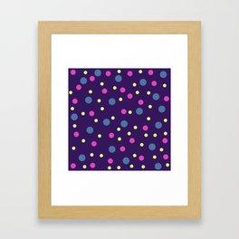 Classic Retro Dots 08 Framed Art Print