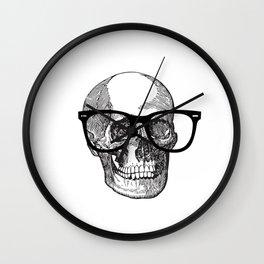 I die hipster - skull Wall Clock