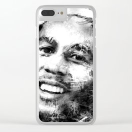 MARLEY (BLACK & WHITE VERSION) Clear iPhone Case