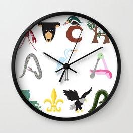 Atchafalaya 2 Wall Clock
