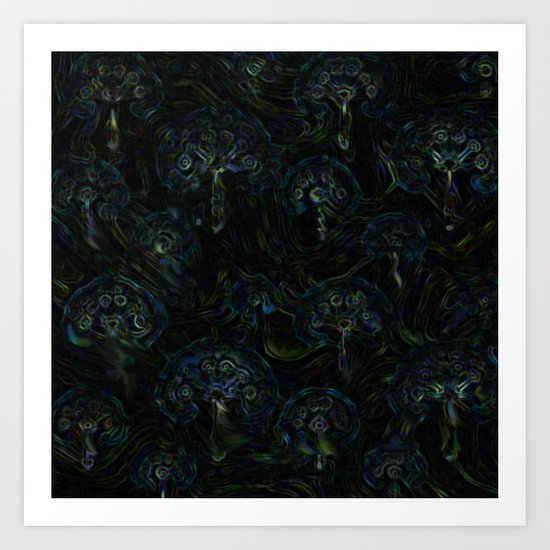 Faces in the Dark Art Print