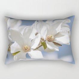 White Magnolia Rectangular Pillow