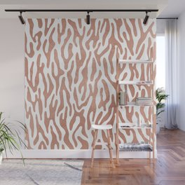 Elegant faux rose gold abstract geometrical animal print Wall Mural