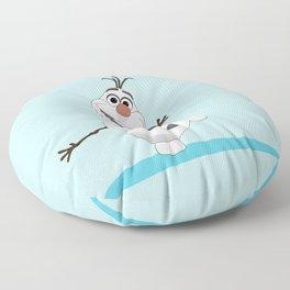 Olaf Frozen cartoon snowmen Floor Pillow