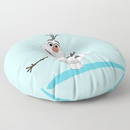 Olaf Frozen cartoon snowmen Floor Pillow