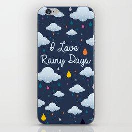 I love Rainy Days iPhone Skin