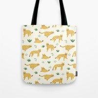 cheetah Tote Bags featuring Cheetah by Sara Maese