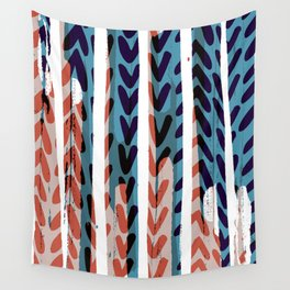 Painted Chevrons - Sarah Bagshaw Wall Tapestry