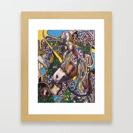 With Flowers in Her Hair Framed Art Print