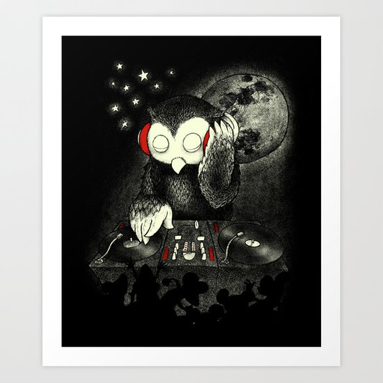 Owl the Night Art Print