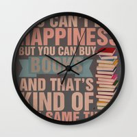 books Wall Clocks featuring Books by thespngames