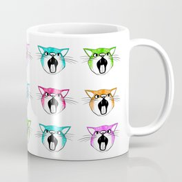 Angry Cats - Grid Coffee Mug