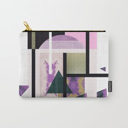 Geometric Metall Carry-All Pouch