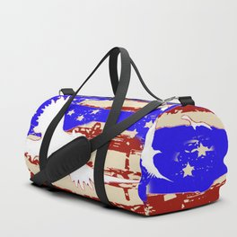 AMERICANA FLAG & WHITE EAGLES FROM  SOCIETY6 BY SHARLESART. Duffle Bag
