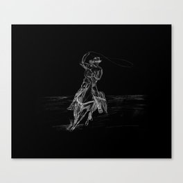 Cowboy Roping Canvas Print