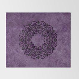 Circle in Purple Throw Blanket