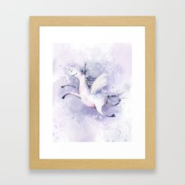 Happy Unicorn Framed Art Print