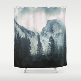 Cross Mountains Shower Curtain