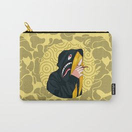 Bape Smoking Girl Yellow Carry-All Pouch