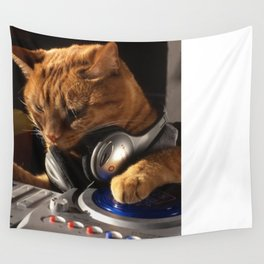 DJ Cat Wall Tapestry