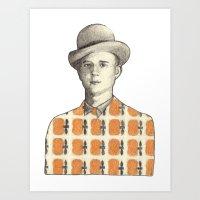 robert farkas Art Prints featuring Robert by Rins