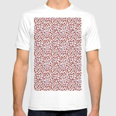 Watercolor Flowers Mens Fitted Tee MEDIUM White