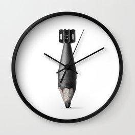Pencil bomb Wall Clock