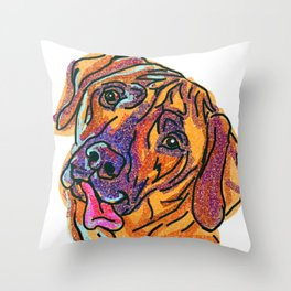 The happy Rhodesian Ridgeback dog Love of My Life Throw Pillow