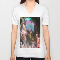 bubbles V-neck T-shirts featuring Bubbles by Dora Birgis