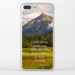 I Will Lift Up mine Eyes Clear iPhone Case