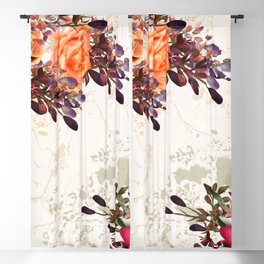 Vintage rose garden Blackout Curtain