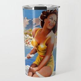 Vintage Marina di Massa Italian travel advertising Travel Mug