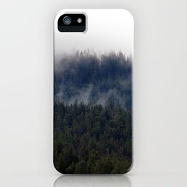 Misty Pine Trees Pacific Northwest iPhone Case