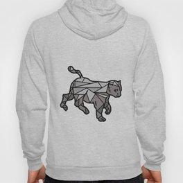Geometric Cat and Lines Hoody
