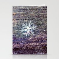 snowflake Stationery Cards featuring snowflake by Bonnie Jakobsen-Martin