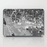 washington dc iPad Cases featuring Washington DC Street Map by Color and Form