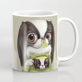 Japanese Chin Sips Matcha Latte Coffee Mug